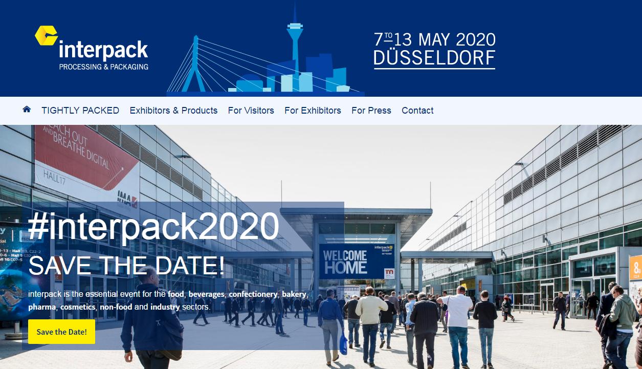 Arddangosfa Interpack 2020 yr Almaen